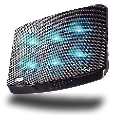 Enyo shadefire – Ventilador PC Portátil para Gamer – Soporte con ventilación para Ordenador Gaming