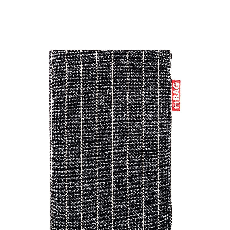 SM-G975F Fabriqu/é en Allemagne | Nettoyage de l/'/écran fitBAG Retro Noir en Tissu Pochette customis/ée adapt/ée Housse de Protection pour Samsung Galaxy S10+ // S10 Plus