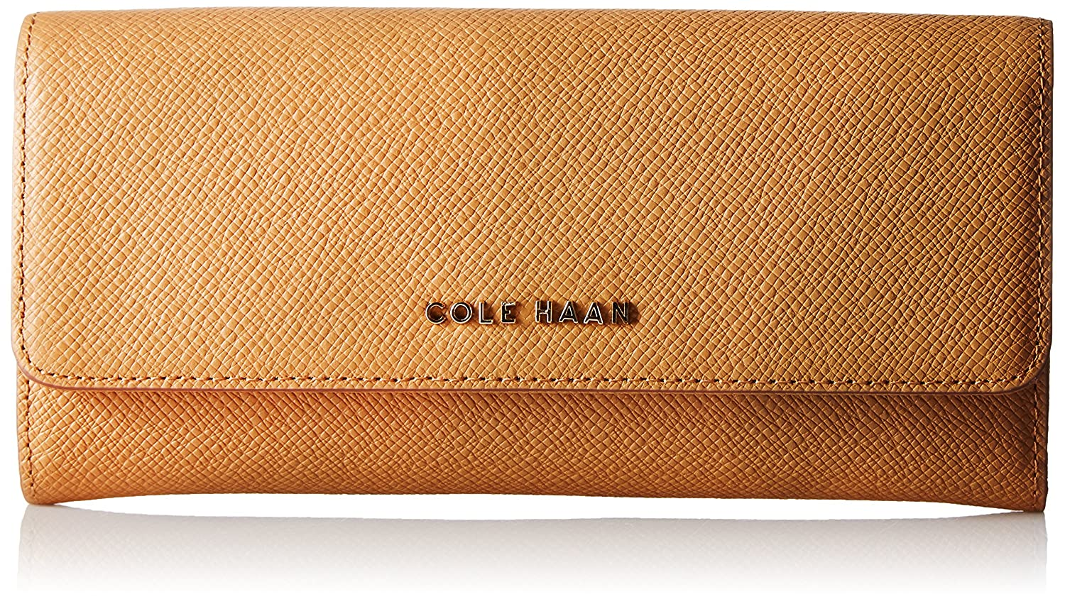 Amazon.com: Cole Haan Emilia Flap Wallet, Pecan/Toasted Almond, One ...