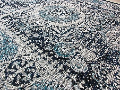Tappeti Kilim Economici : Galicarpet tappeto 120x180 effetto vintage blu celeste stile sumak