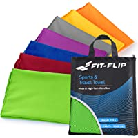 Fit-Flip Mikrofaser Handtücher in 18 Farben, Ultra saugfähig + leicht, Sporthandtuch, Reisehandtuch, Badetuch Microfaser, Strandhandtuch XXL, 2er-Set