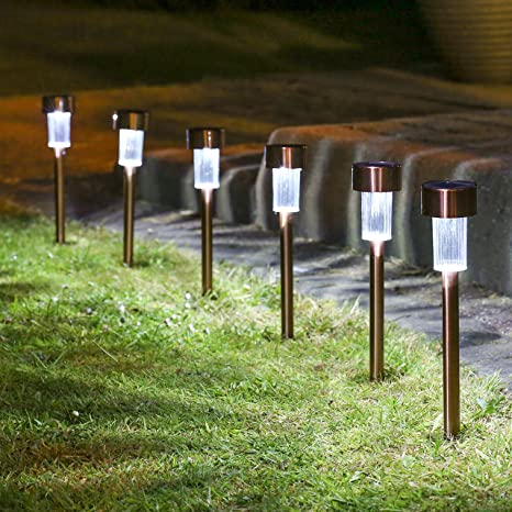 Outdoor Solar Pathway Lights Amazon sogrand 12pcs pack solar lights outdoor stainless sogrand 12pcs packsolar lights outdoorstainless steelsolar lightlandscape workwithnaturefo
