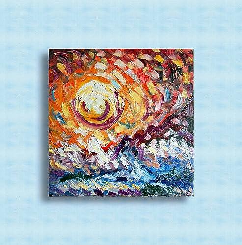 Ölgemälde auf Leinwand, moderne abstrakte Kunst, ursprünglich ...