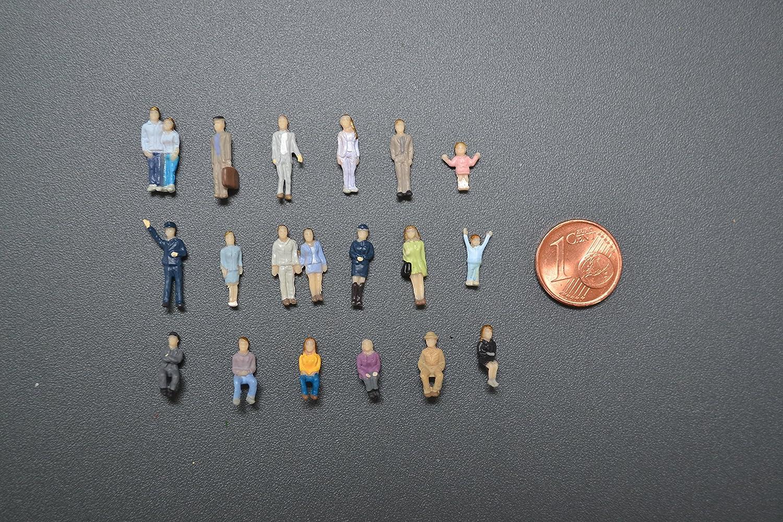 100 stehende und sitzende Figuren für Spurweite TT 1:120 Dagoberts Speicher