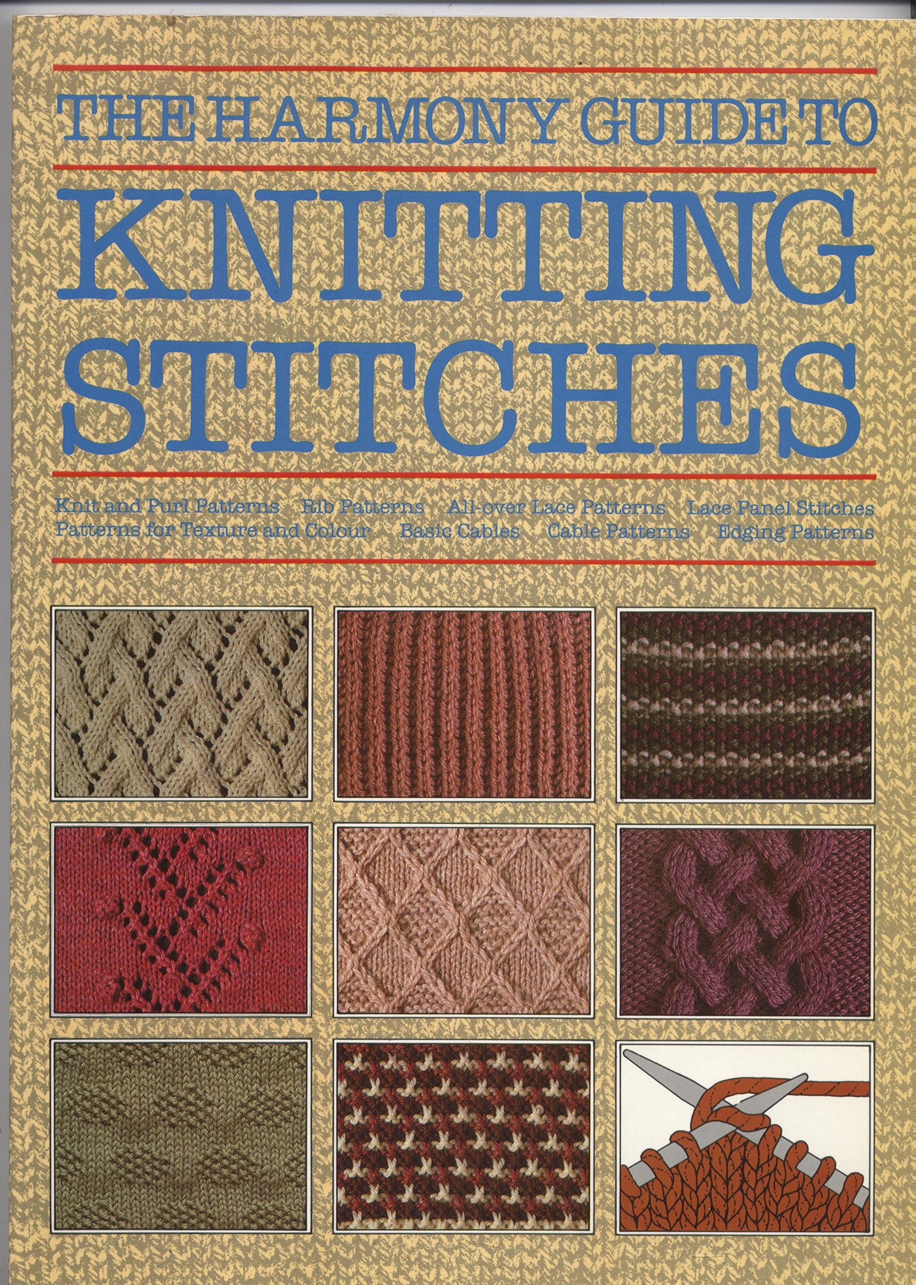 The Harmony Guide to Knitting Stitches: Lyric Books: 9780711100138 ...