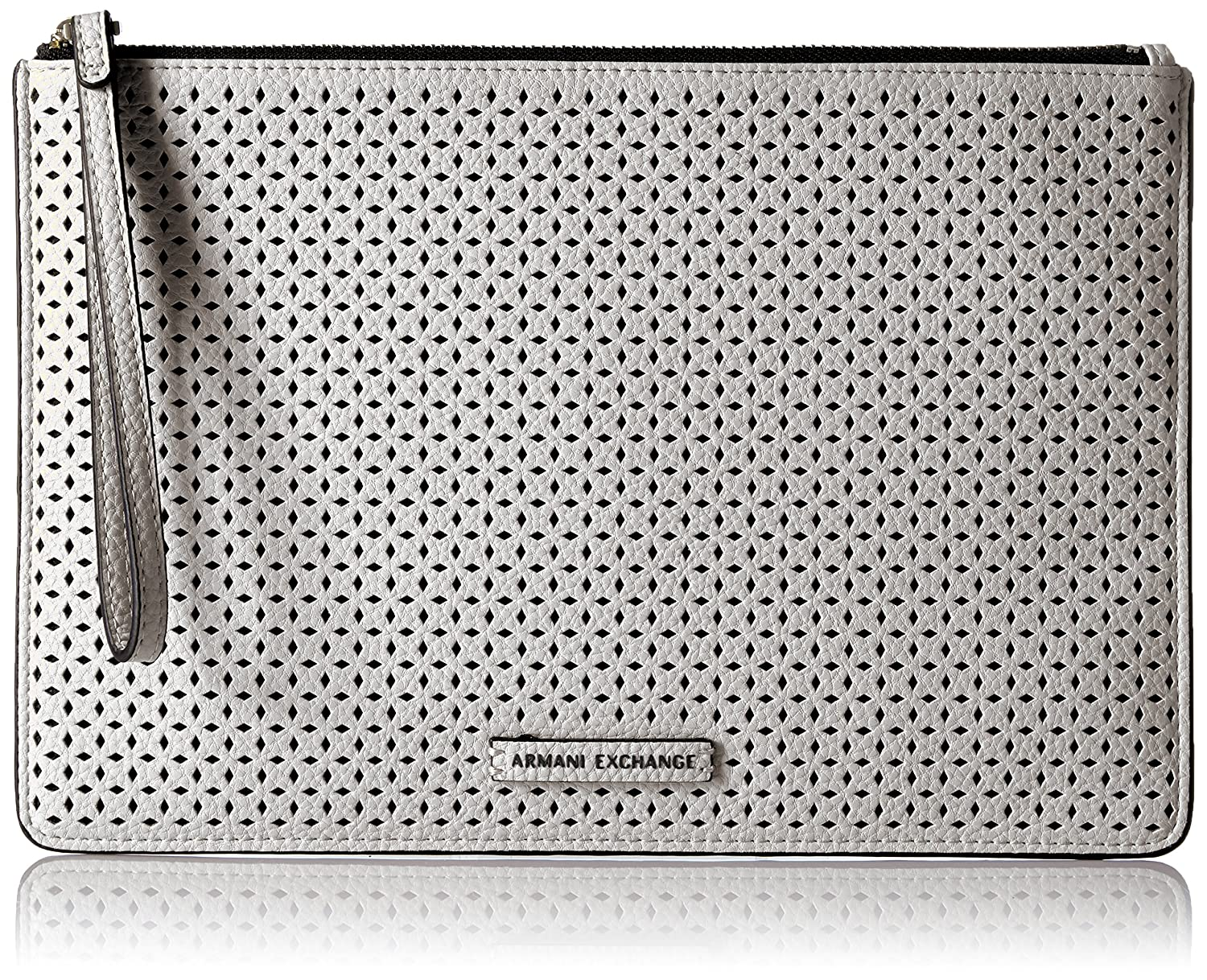A X Armani Exchange Perforated Pebble Pu Pouch Soft Coral A|X Armani Exchange 9480217P110