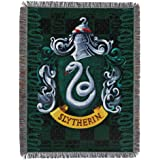 Harry Potter Woven Tapestry Throw Blanket, 48 x 60 Inches, Slytherin Shield