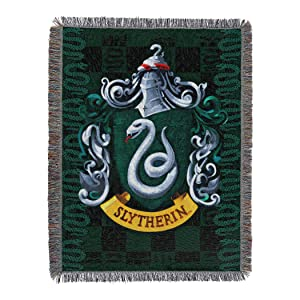 "Harry Potter, ""Slytherin Shield"" Woven Tapestry Throw Blanket, 48"" x 60"""
