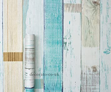 Gut gemocht Fototapete, Shabby Chic, Worn Wood, klebrige Rückseite, PVC, 5 m CH57