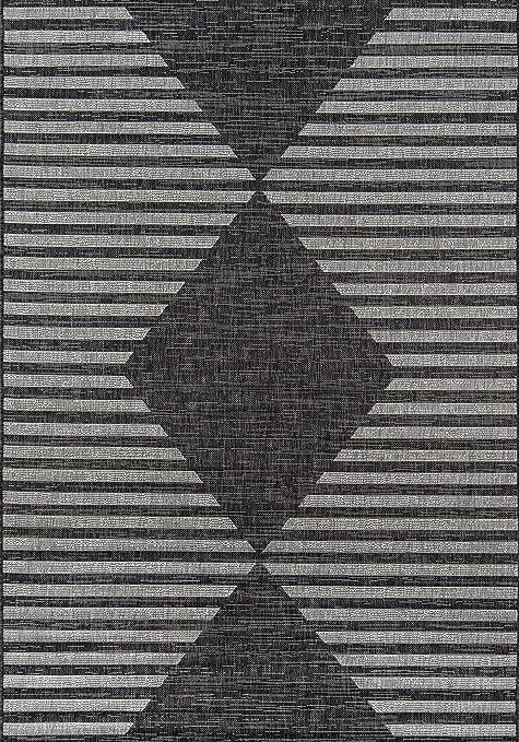 Amazon Com Novogratz By Momeni Villa Cavallo Indoor Rug 6 7 X 9 6 Charcoal Furniture Decor