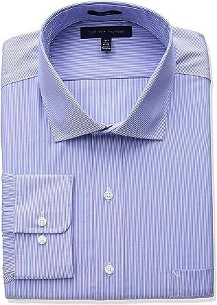 Tommy Hilfiger Hombre 24N0462 Cuello Tipo Italiano Camisa de ...