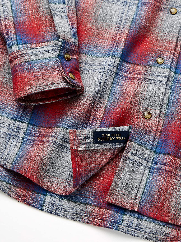Pendleton Men's Big & Tall Long Sleeve Canyon Shirt Button Grey/Pink Ombre
