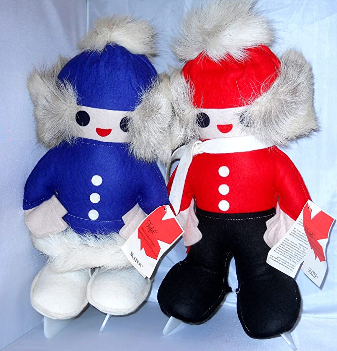 Amazon.com: Fufel Girl and Boy Skaters Dolls Collection Handcrafted in Canada Vintage 1981 Reindeer Hair: Home & Kitchen