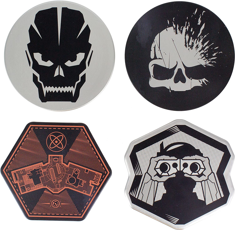 Paladone Call of Duty Premium Metal Drink Coasters Set of 4