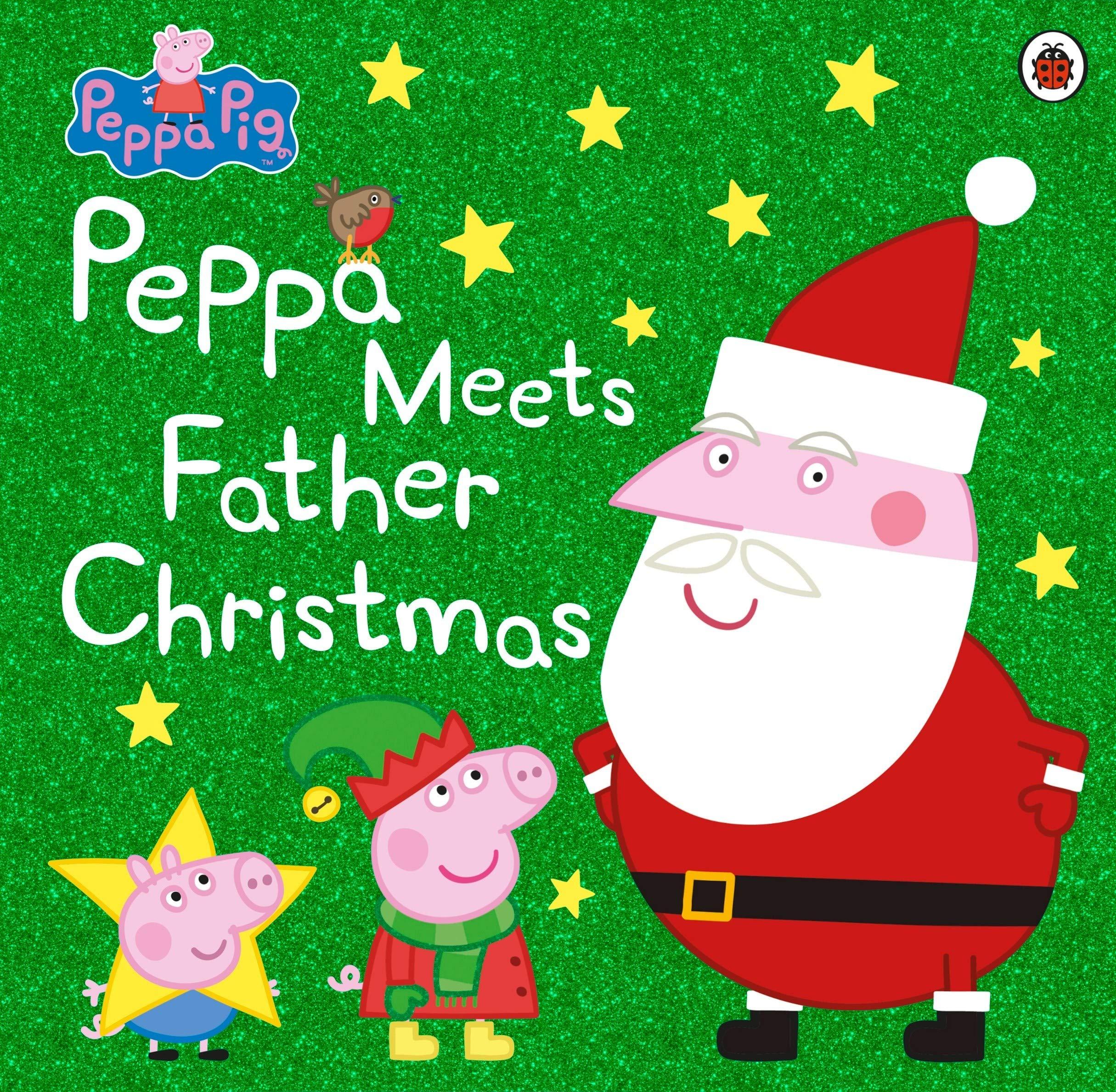 Christmas Pig.Peppa Pig Peppa Meets Father Christmas Amazon Co Uk Peppa