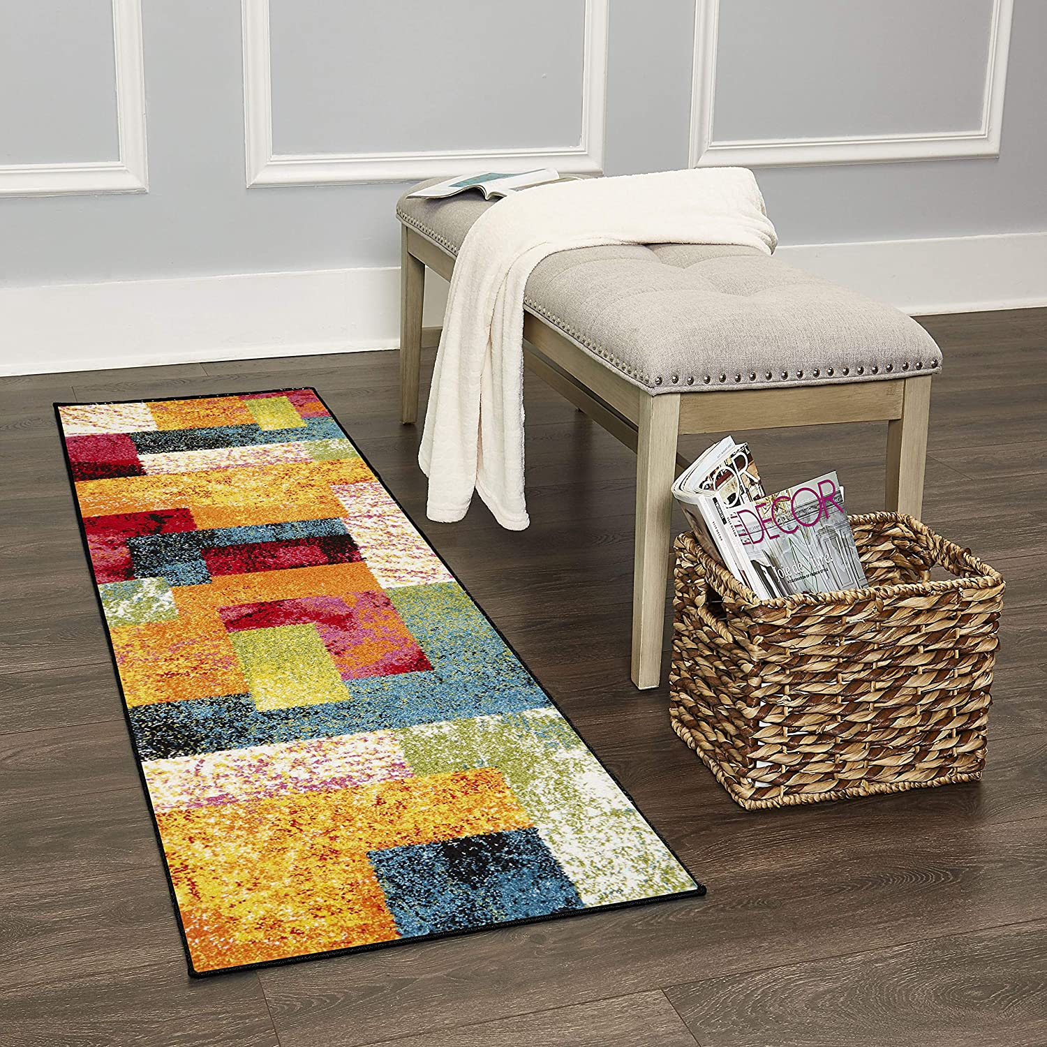 "Home Dynamix Splash Scarlet Rug 1'9""x7'2"" Ivory/Pink/Orange/Blue"