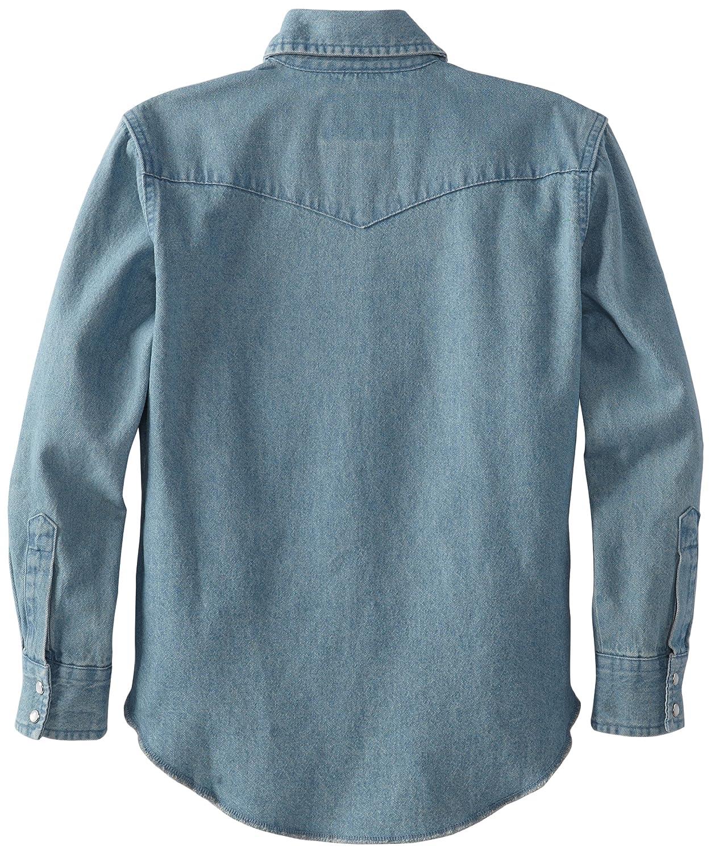 Wrangler Boys Western Solid Snap Shirt