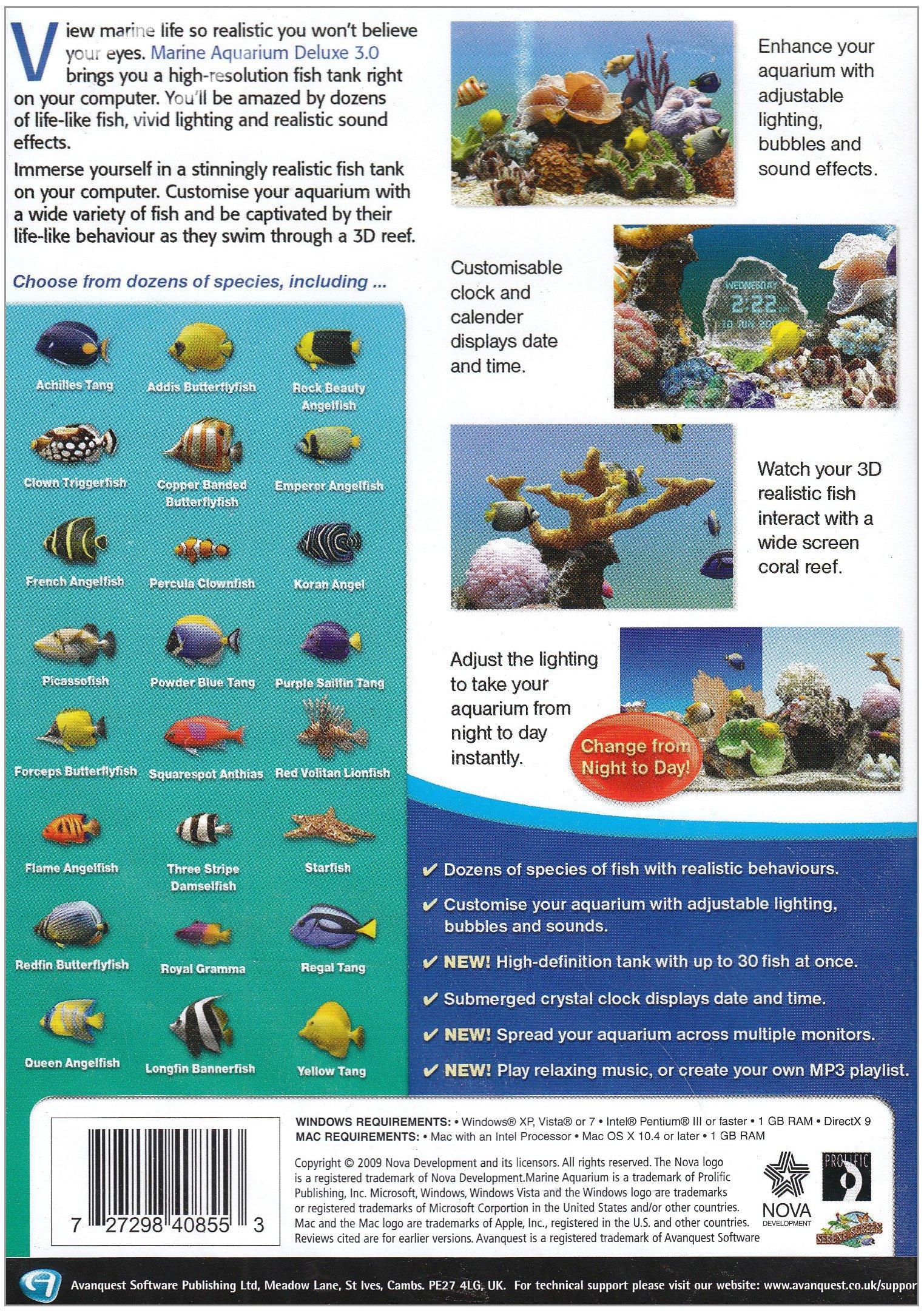 Marine Aquarium Deluxe 3.0 Screensaver, Version 3 by Nova Development US