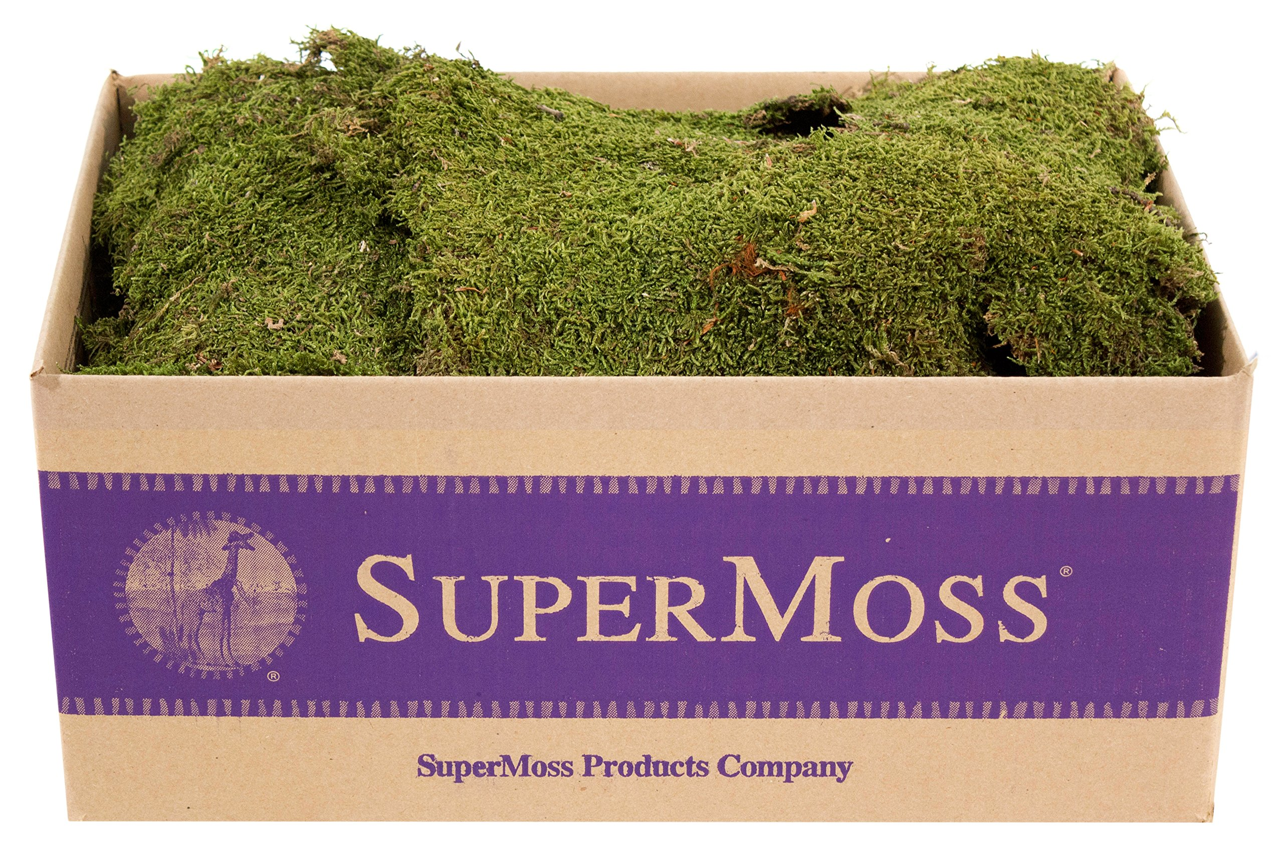 Super Moss (21588) Sheet Moss Dried, Natural (20-24 sq. ft. Approx 3.5lbs)
