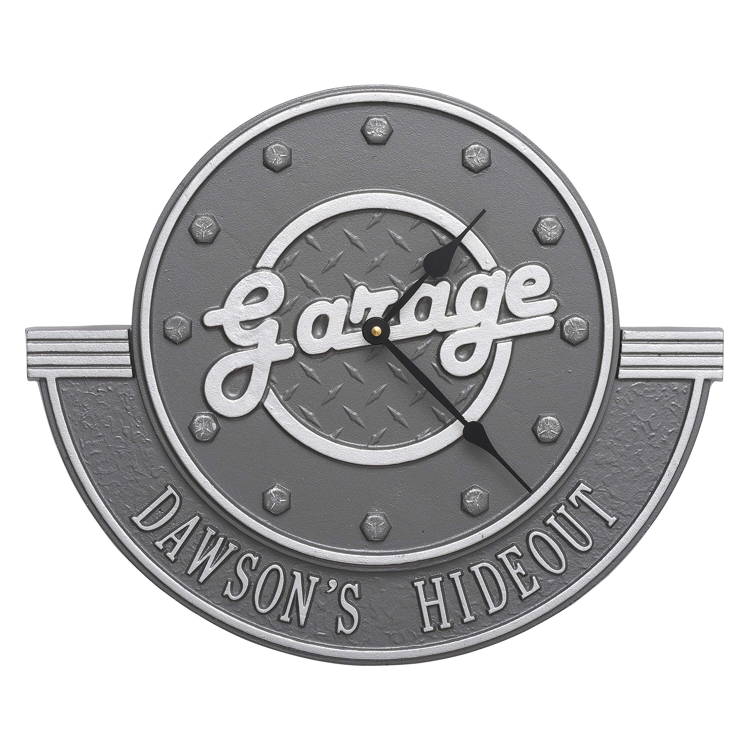 Garage Personalized 12-in Indoor Outdoor Wall Clock - 2077PS