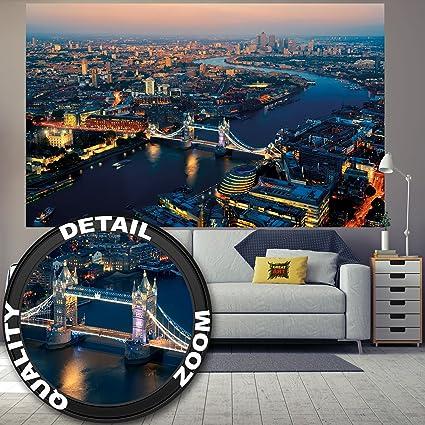 London Skyline Wall Art Decoration Photo Wallpaper Tower Bridge At Sunset Uk Great Britain United Kingdom I Paperhanging Wallpaper Poster Wall Decor