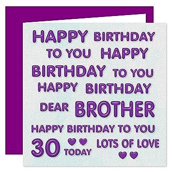 Geburtstagskarte Zum 30 Geburtstag Fur Bruder Aufschrift Happy
