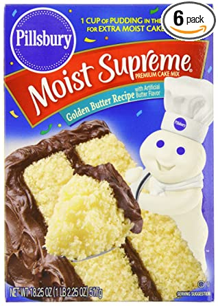 Amazon Com Pillsbury Cake Mix Butter Recipe 18 25 Ounce Boxes Pack Of 6 Grocery Gourmet Food