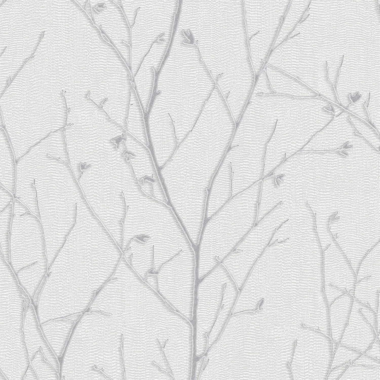 Boutique 104755 Papel pintado Light Silver 52cm Width x 1000cm Length