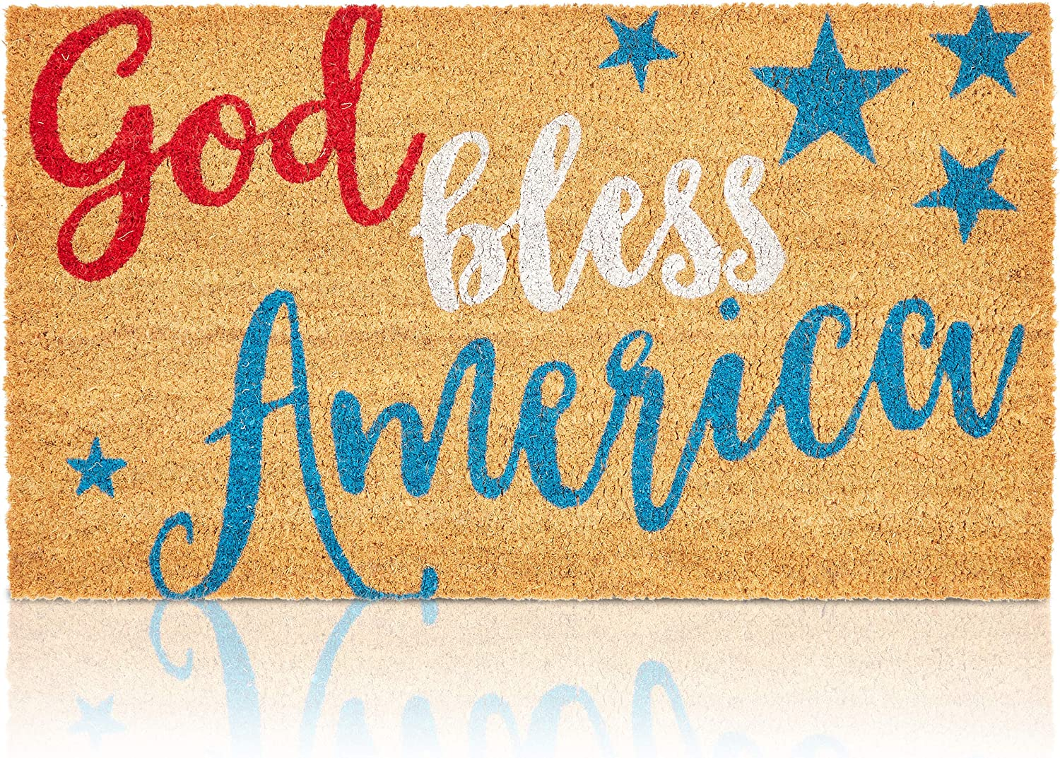 Welcome Mats for Front Door, God Bless America (17 x 30 in)
