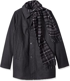 20382a11bcbb3 Dockers Men s Wool Melton Walking Coat with Detachable Scarf at ...
