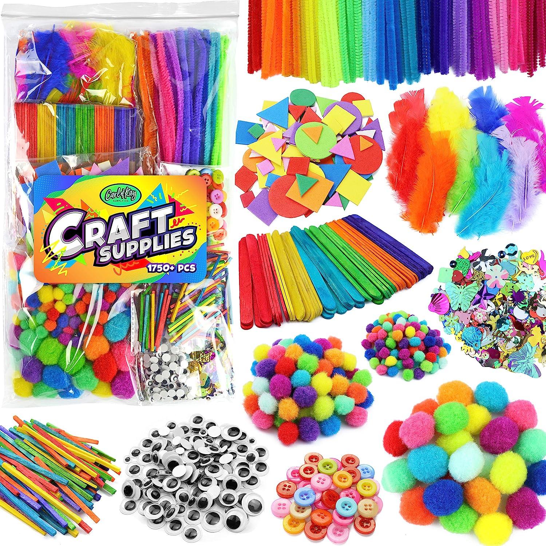 Arts & Crafts Supplies for Kids Crafts - Kids Craft Supplies & Materials - Kids Art Supplies for Kids - Arts and Crafts Kit for Kids Craft Kits - Toddler Crafts for Kids Craft Set - Carl & Kay