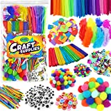 Arts & Crafts Supplies for Kids Crafts - Kids Craft Supplies & Materials - Kids Art Supplies for Kids - Arts and Crafts Kit f