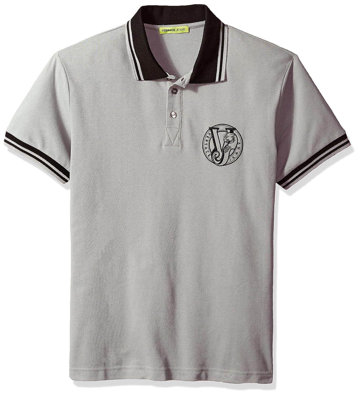 ac8d8c91 Amazon.com: Versace Jeans Men's Basic Logo Polo: Clothing