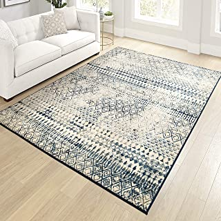 """product image for Orian Meadow Carrier Area Rug, 5'3"""" x 7'6"""", White Thatch"""
