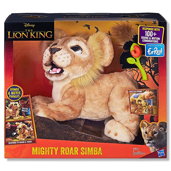 Hasbro Disney The Lion King Mighty Roar Simba Interactive Plush Toy Brought To Life By Furreal 100 Sound Motion Combinations Ages 4 Up