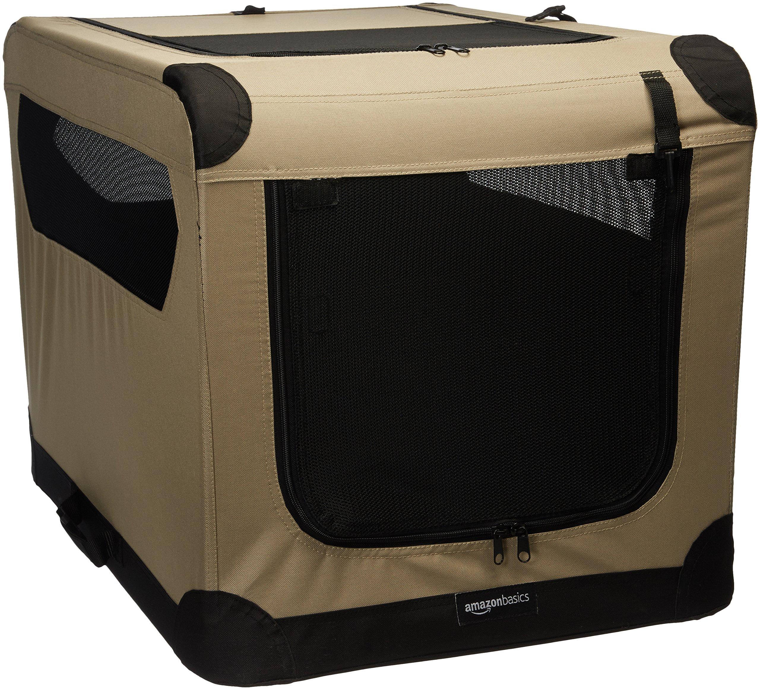 AmazonBasics Folding Soft Dog Crate, 30''