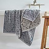 Stone & Beam Flora Jacquard Cotton Towel Set, Set