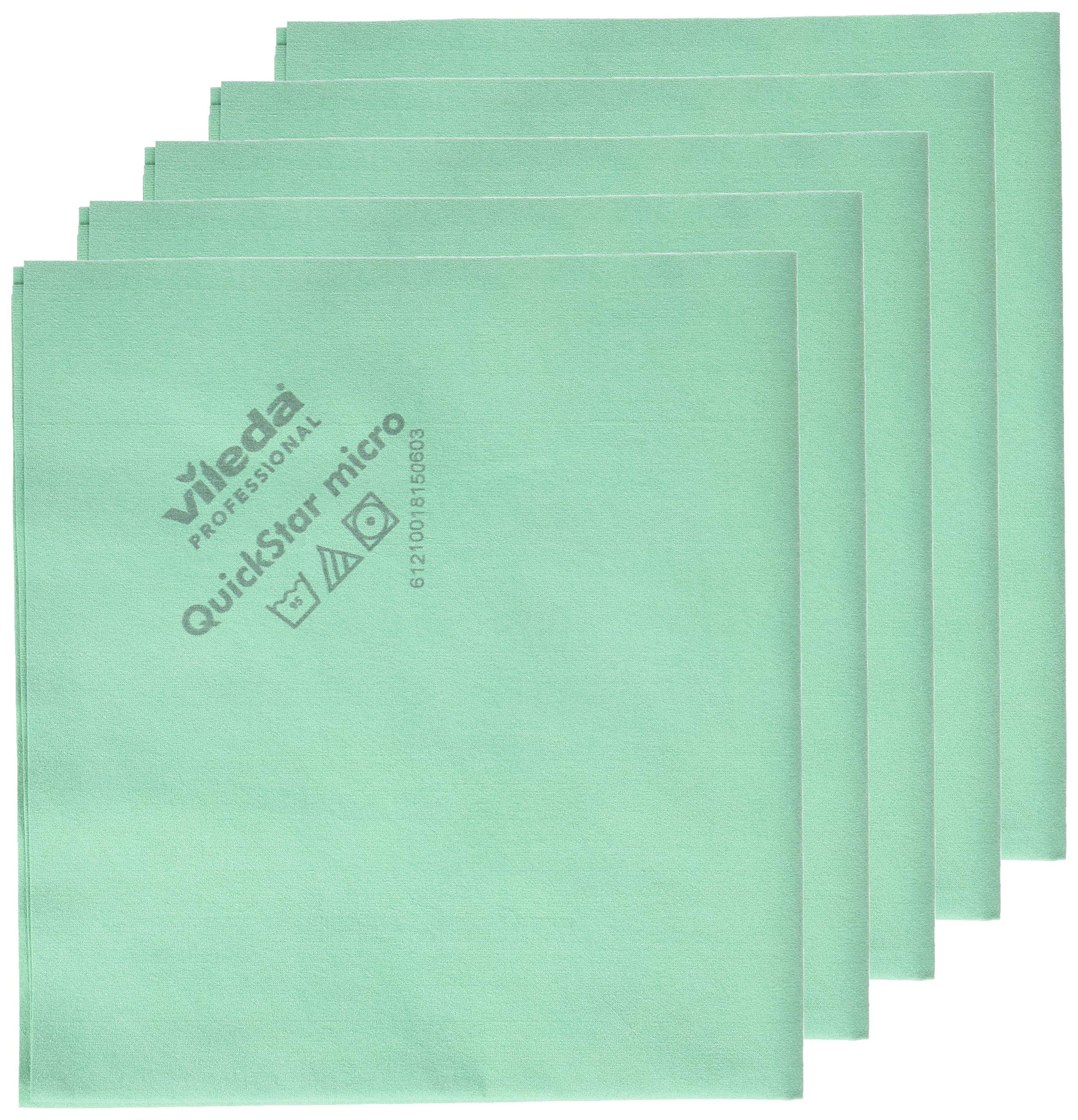 Vileda Professional 100255 QuickStar Microfiber Cloth Green (case of 100)