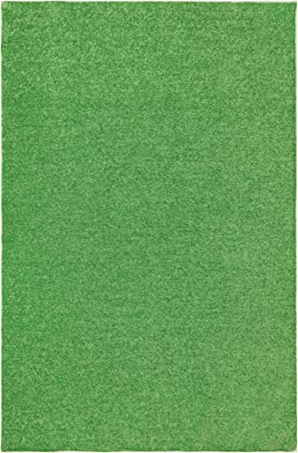 Home Cool Solid Colors Wind Dancer Collection Area Rugs Lime Green – 9 x12 with Non Slip Backing