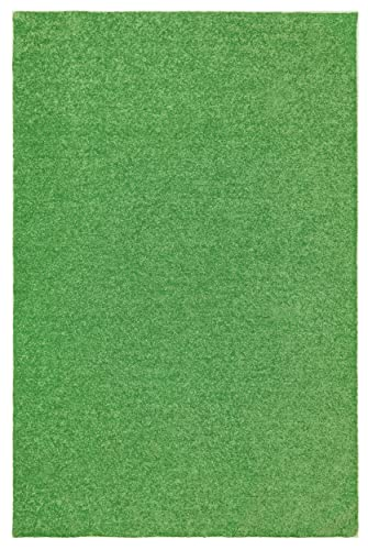 Ambiant Broadway Collection Kids Favourite Area Rug Lime Green – 5 x8 with Non Slip Backing
