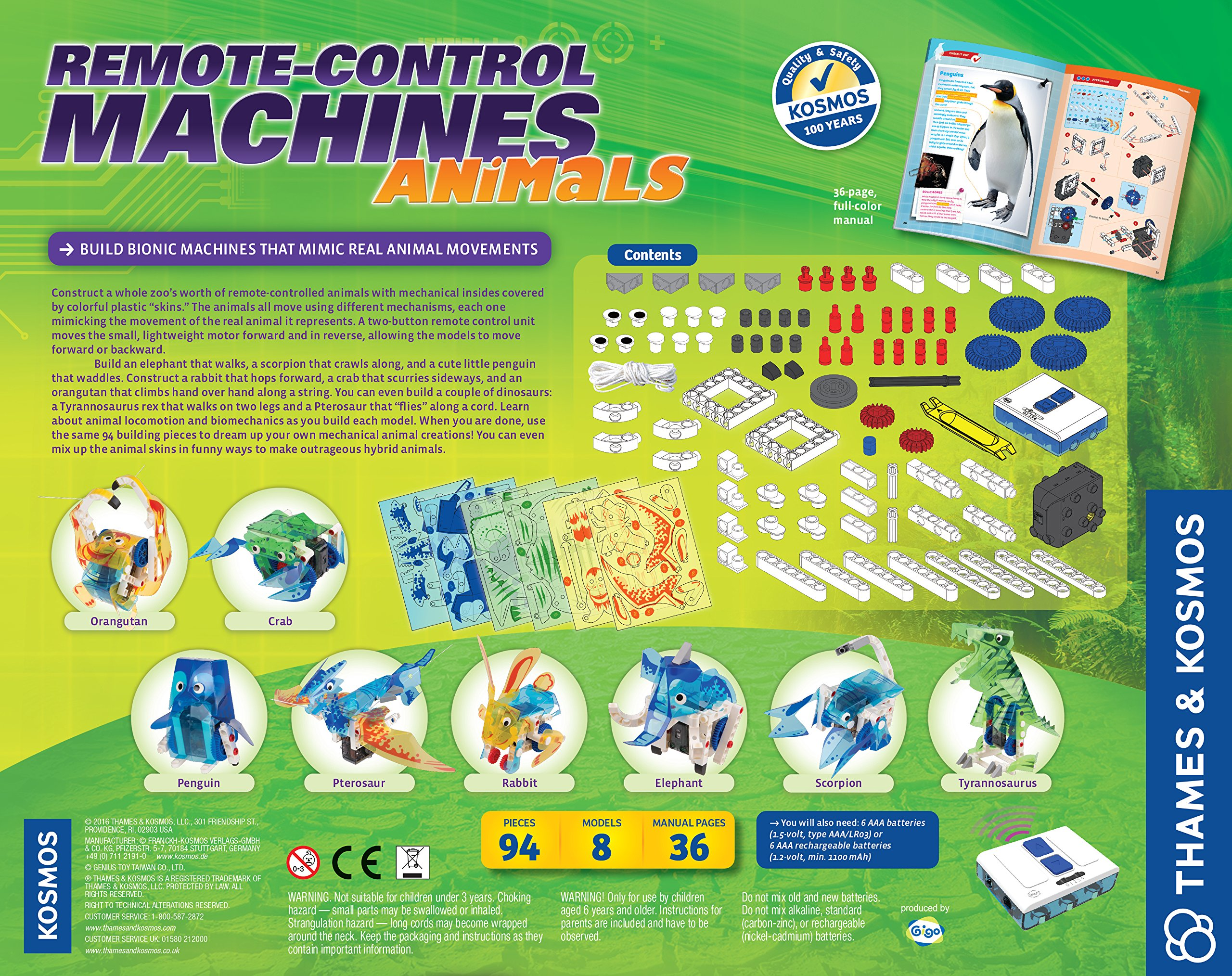 Thames & Kosmos Remote-Control Machines: Animals Science Kit by Thames & Kosmos (Image #2)