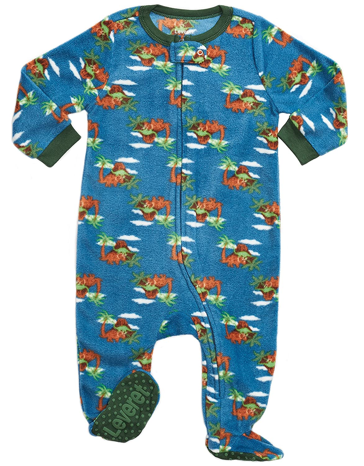 Leveret Fleece Baby Boys Footed Pajamas Sleeper Kids Toddler Pajamas 3 Months 5 Toddler