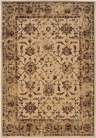 Amazon Com Living Comfort Carsten 7ft X 10ft 10in Ivory Beige Traditional Oriental Indoor Area Rug 10in 10in Furniture Decor