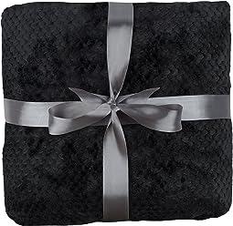 daydream K-1004 luxuriöse Kuscheldecke aus Flanell, 150 x 200 cm, schwarz