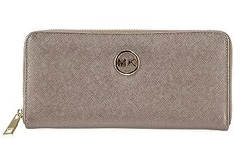 Cartera de mujer MIK, monedero de moda de cuero de la PU elegante y bolsillo para teléfono móvil en uno: Amazon.es: Equipaje