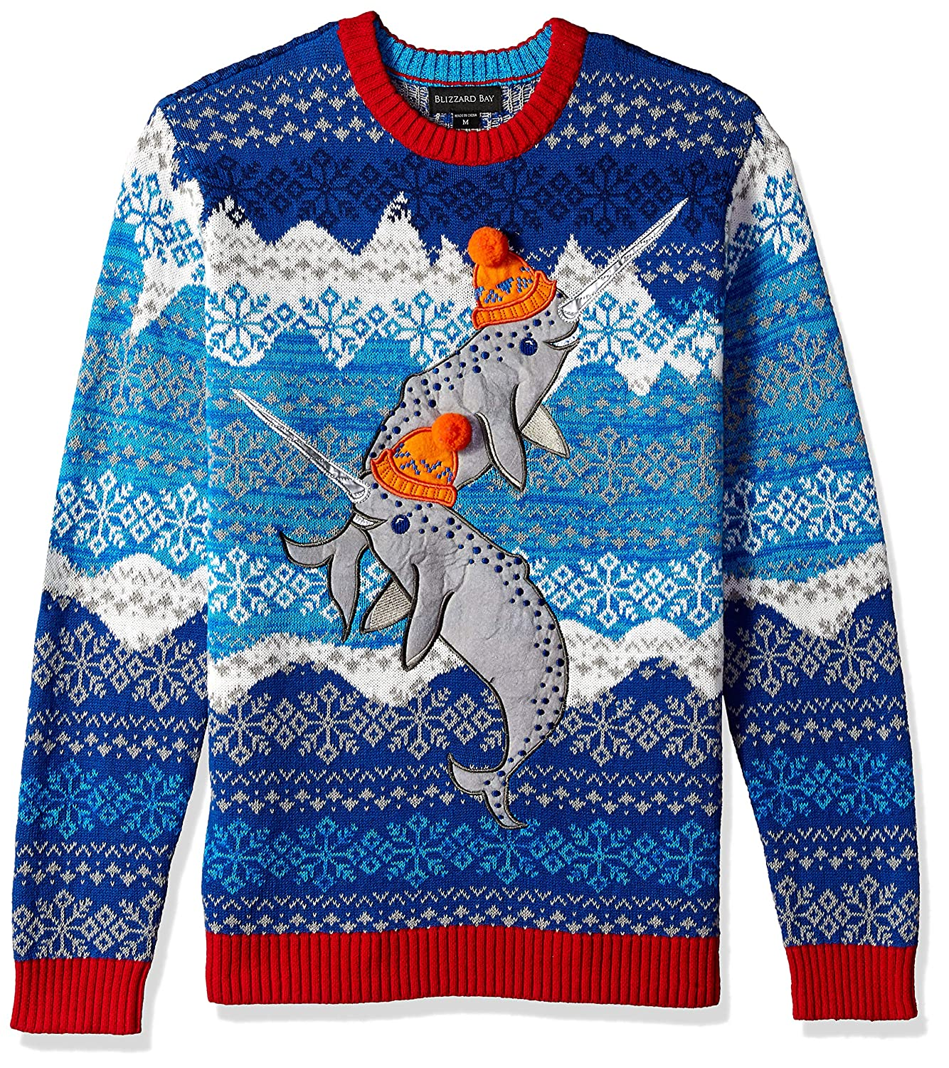 Blizzard Bay Men\'s Narwhals Ugly Christmas Sweater Blizzard Bay Mens Apparel E66519