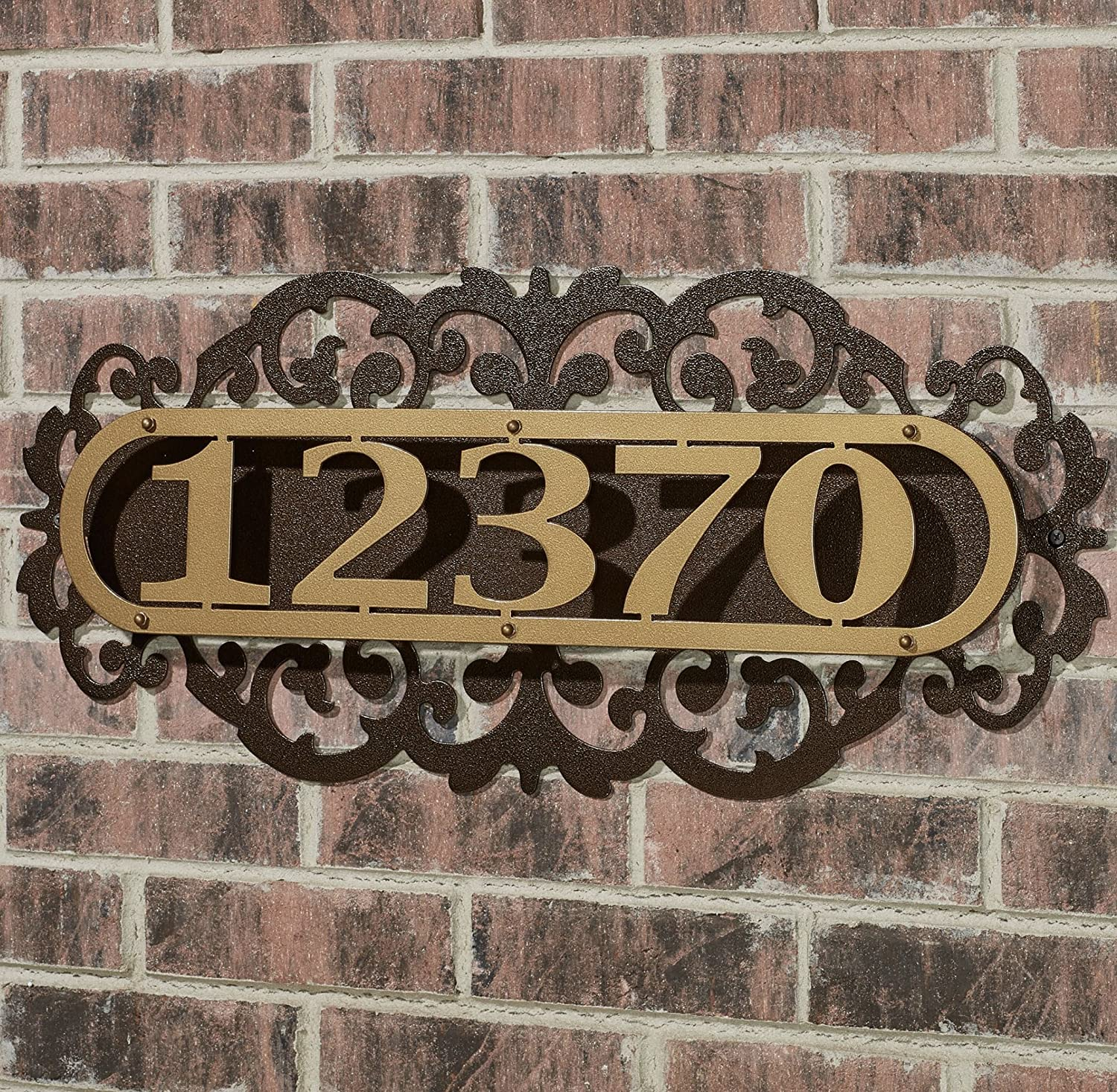 Touch Of Class Metal LaRoyal House Number Plaque Gold/Bronze Four to Five Numbers