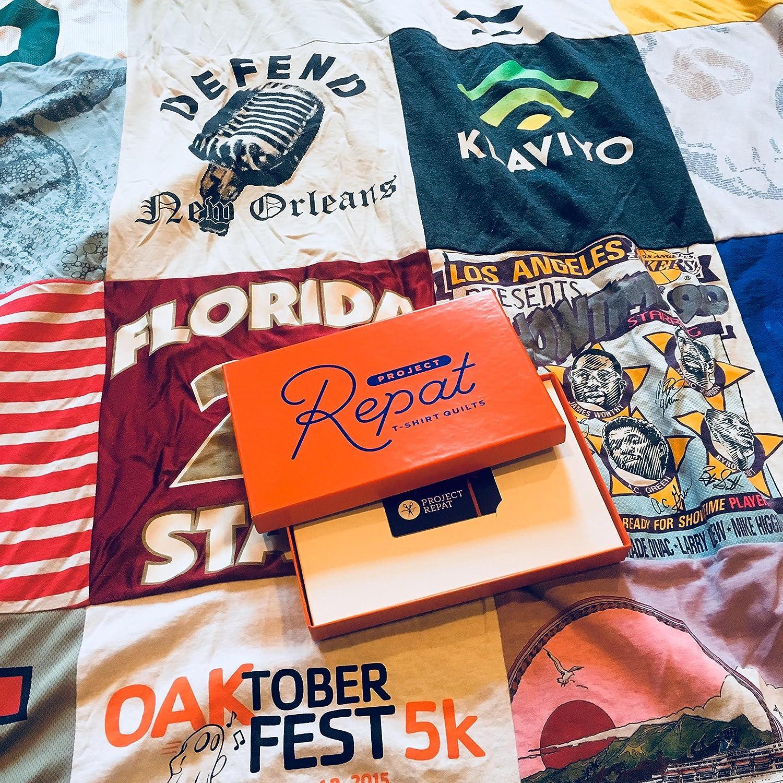 Project Repat custom T-shirt quilt