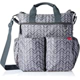Skip Hop Messenger Diaper Bag With Matching Changing Pad, Duo Signature