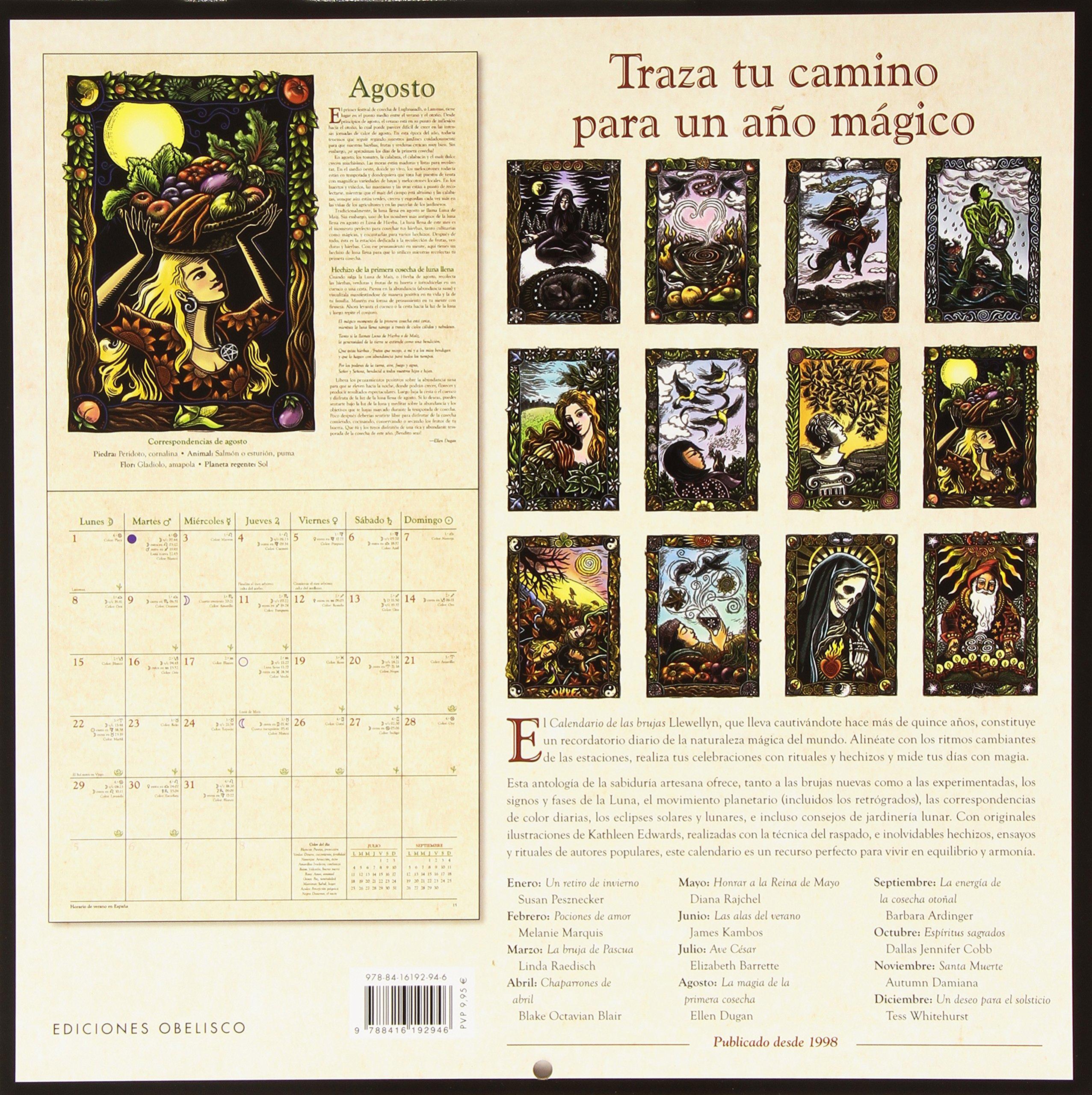 2016 Calendario de las Brujas Agendas Y Calendarios 2016 ...